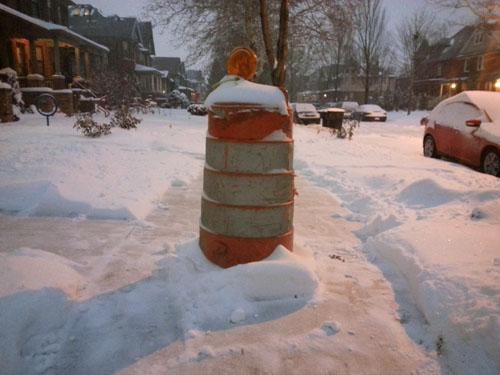 Snowfall gauge.