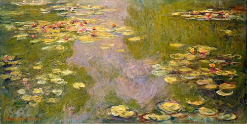 Monet's Nymphéas in 1919, via wikipedia.